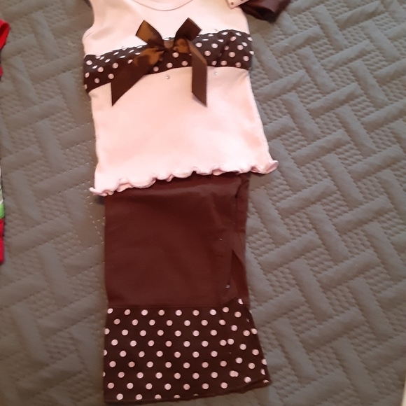 Little Lass Other - Pink and brown outfit